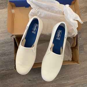 NWT Keds Champion Slip On White Leather